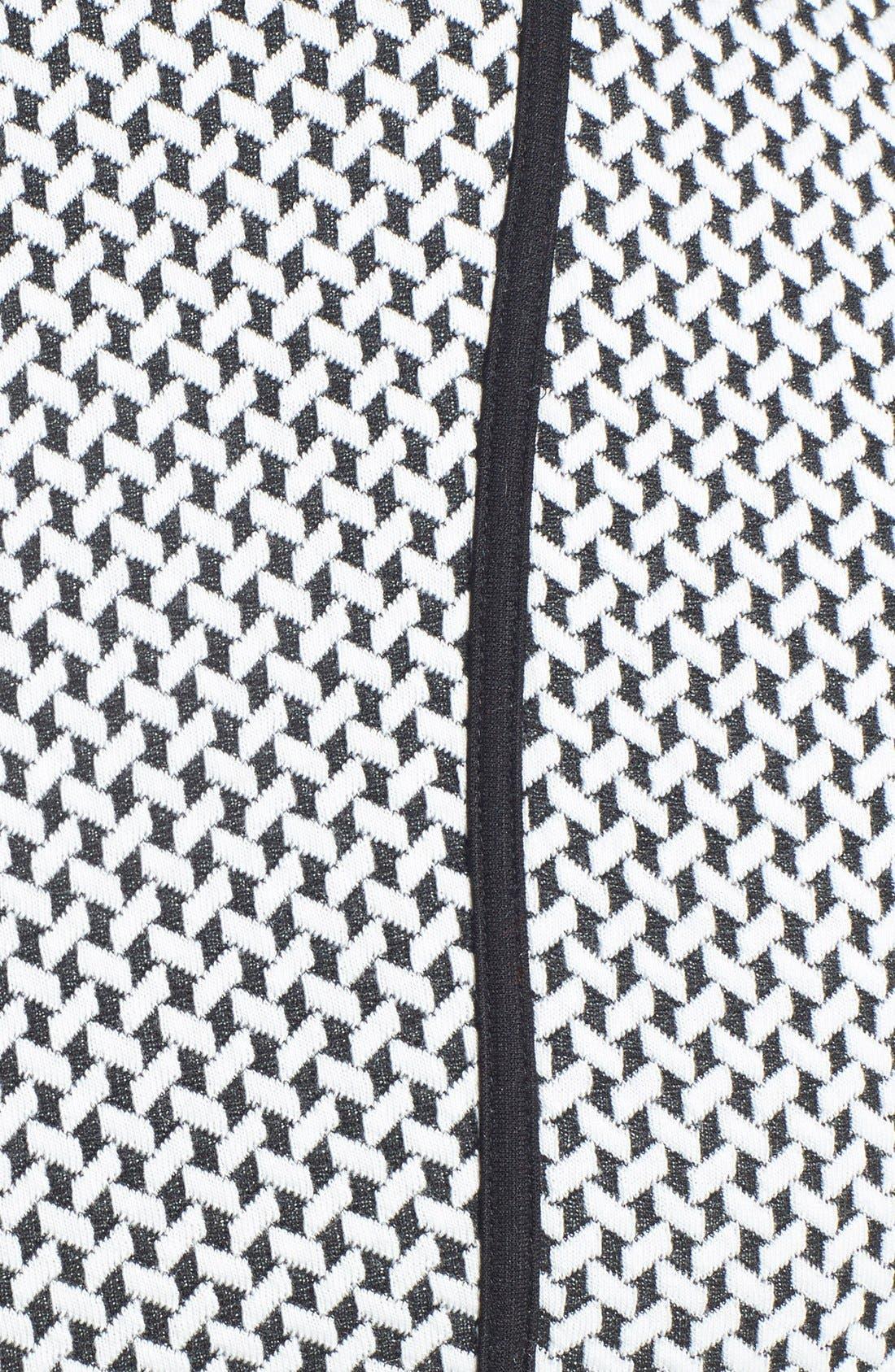Alternate Image 3  - Calvin Klein Belted Textured Ponte Fit & Flare Dress (Plus Size)
