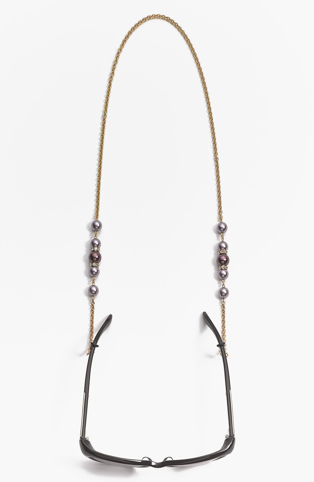 'Cadabra' Swarovski Crystal Eyeglass Chain,                             Alternate thumbnail 2, color,                             Burgundy/ Gold