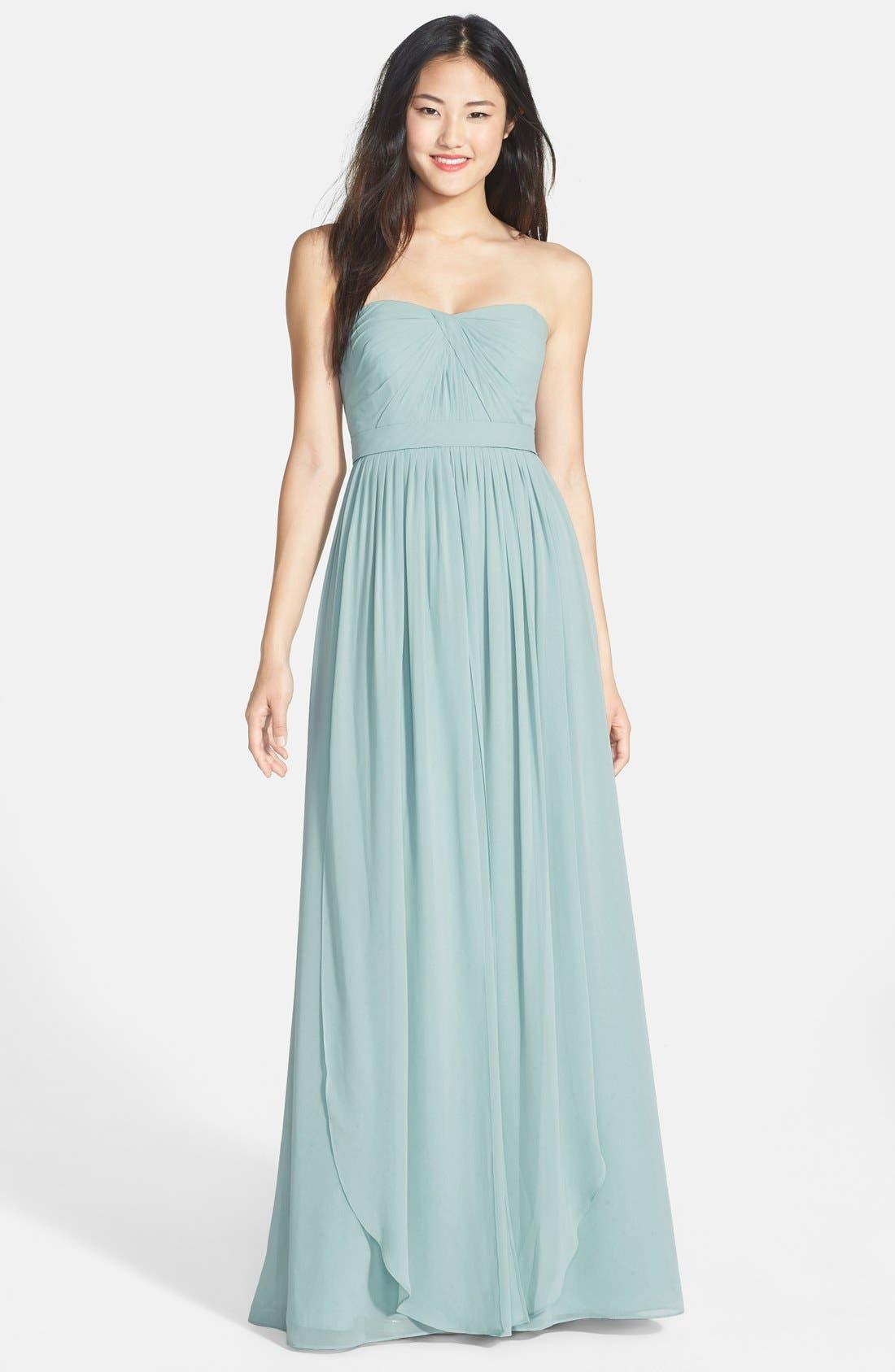 Main Image - Jenny Yoo 'Aidan' Convertible Strapless Chiffon Gown