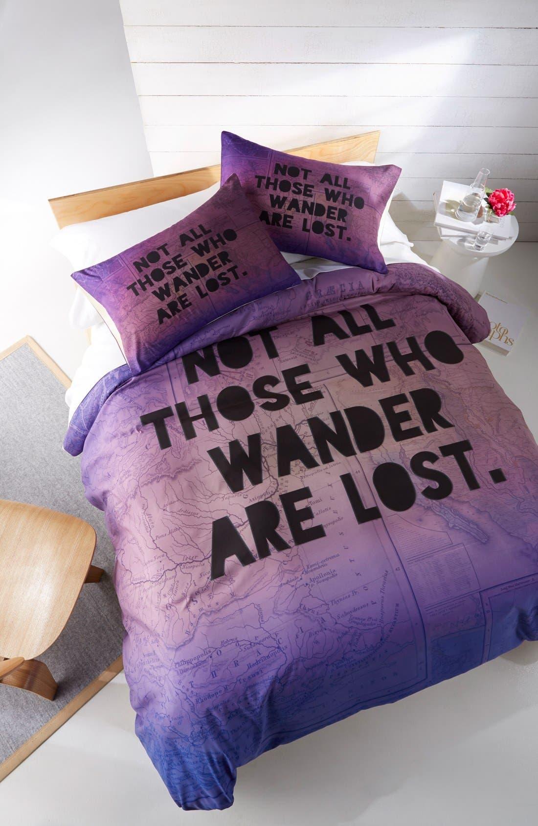 Alternate Image 1 Selected - DENY Designs 'Those Who Wander' Duvet Cover Set
