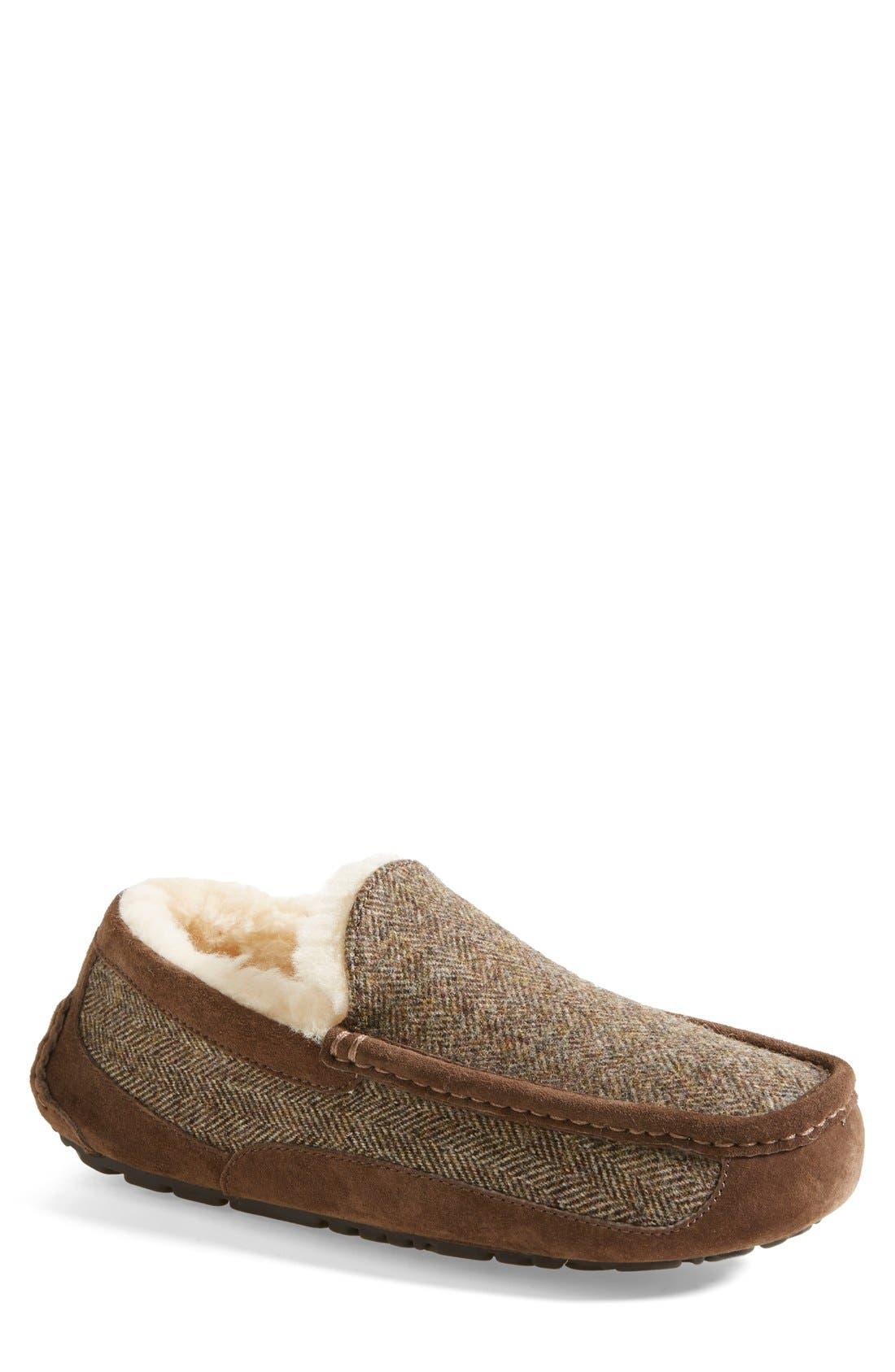 Ascot Tweed Slipper,                             Main thumbnail 1, color,                             Stout Tweed