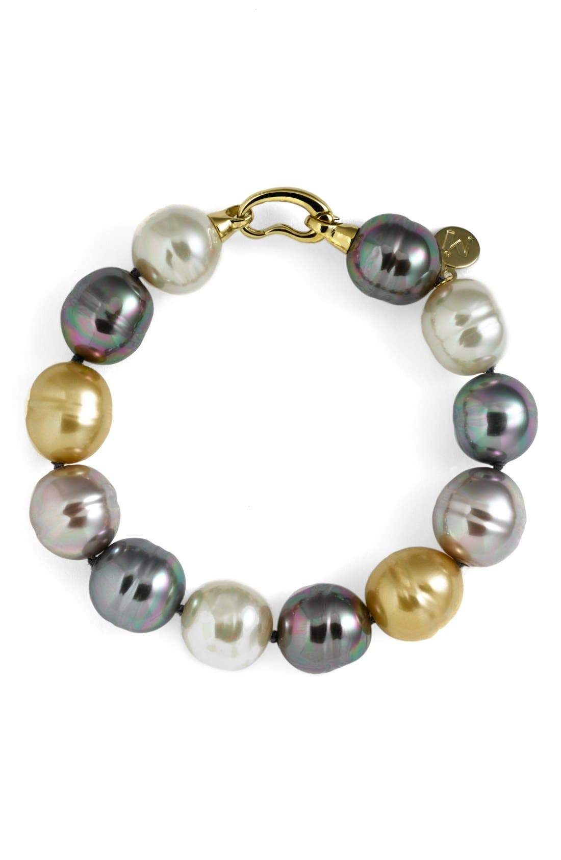 Alternate Image 1 Selected - Majorica 14mm Baroque Pearl Single Row Bracelet