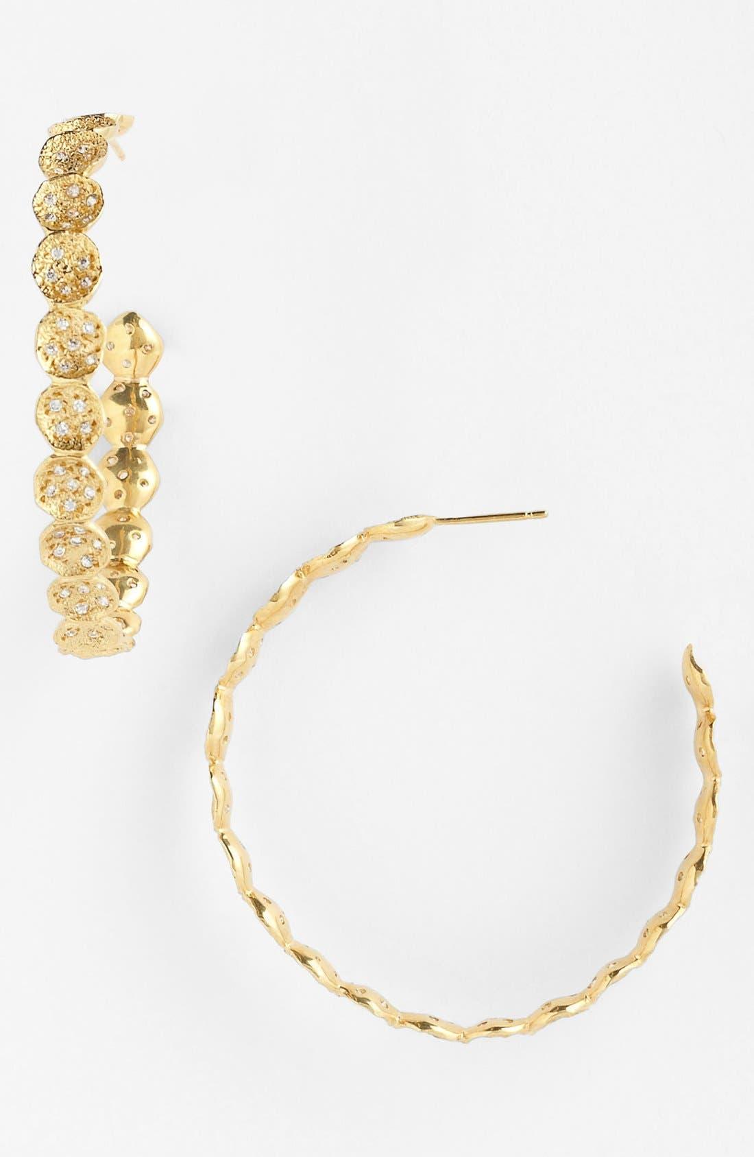 Alternate Image 1 Selected - Melinda Maria 'Sabina Infinity' Pavé Hoop Earrings