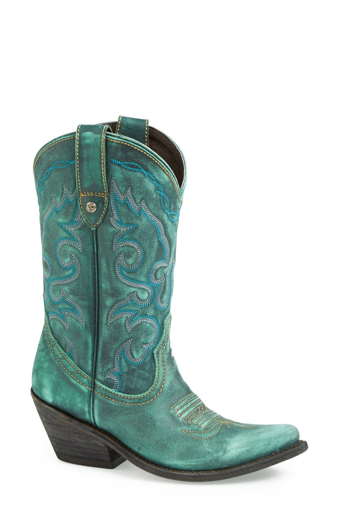 Alternate Image 1 Selected - Liberty Black Western Leather Boot (Women)