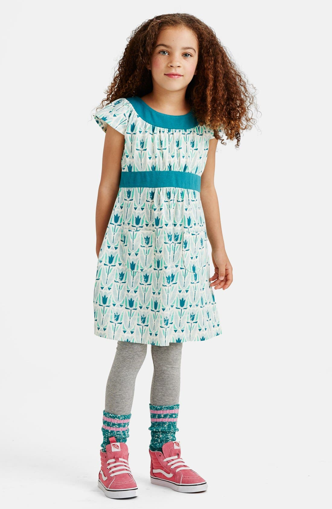 Alternate Image 3  - Tea Collection 'Mod Tulip' Dress (Toddler Girls, Little Girls & Big Girls)