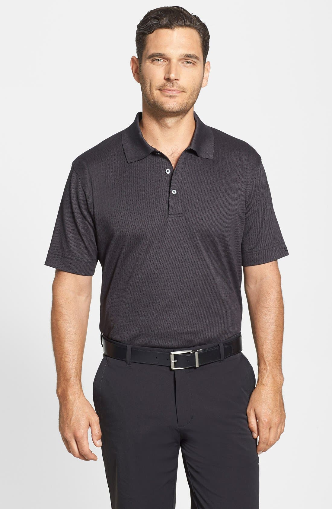 Alternate Image 1 Selected - Cutter & Buck 'Luxe - Faceted' DryTec Golf Polo