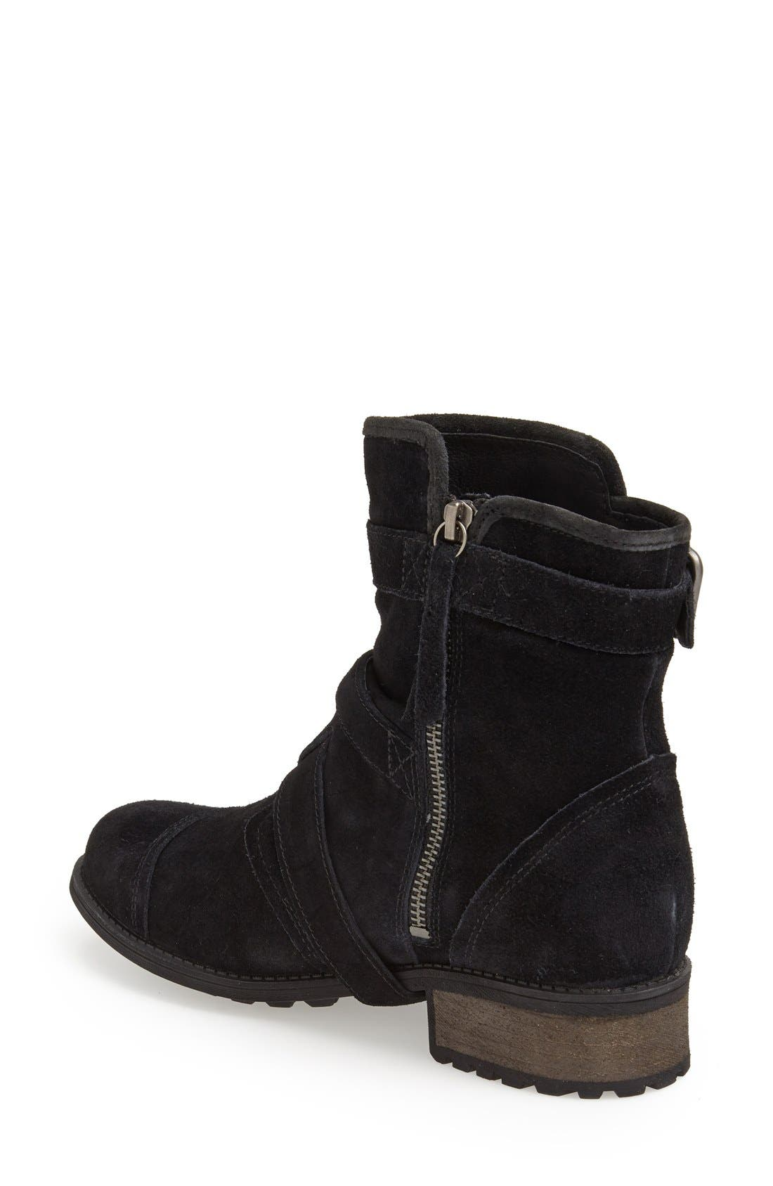 Alternate Image 2  - UGG® Australia 'Finney' Suede Moto Boot (Women)