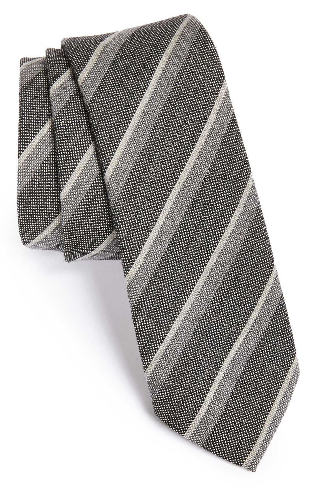 Main Image - John Varvatos Collection Woven Cotton Blend Tie
