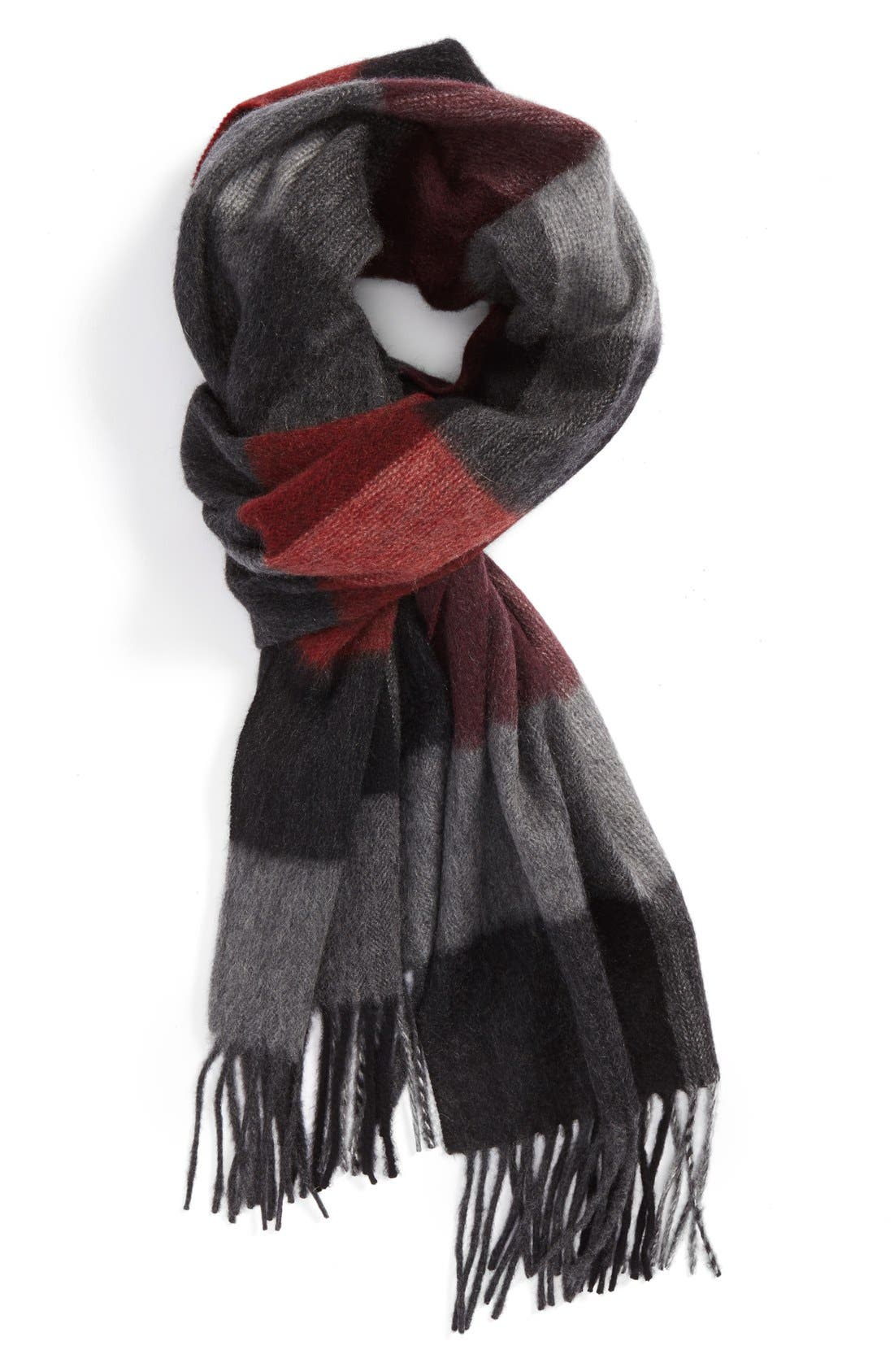 Alternate Image 1 Selected - Nordstrom Buffalo Plaid Cashmere Scarf