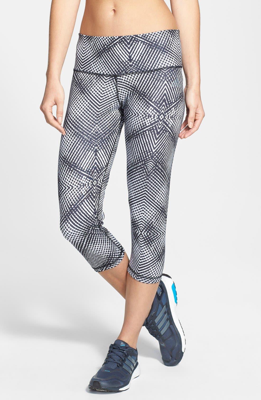 Alternate Image 1 Selected - adidas Print Capri Tights