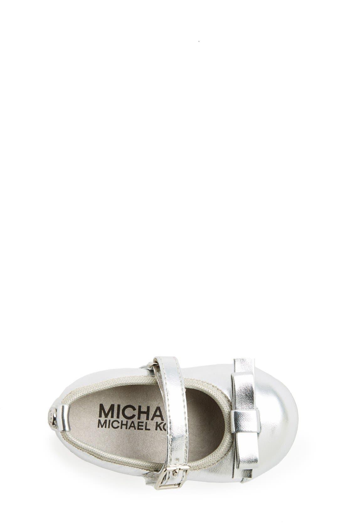 Alternate Image 3  - MICHAEL Michael Kors 'Grace Bina' Mary Jane Crib Shoe (Baby)
