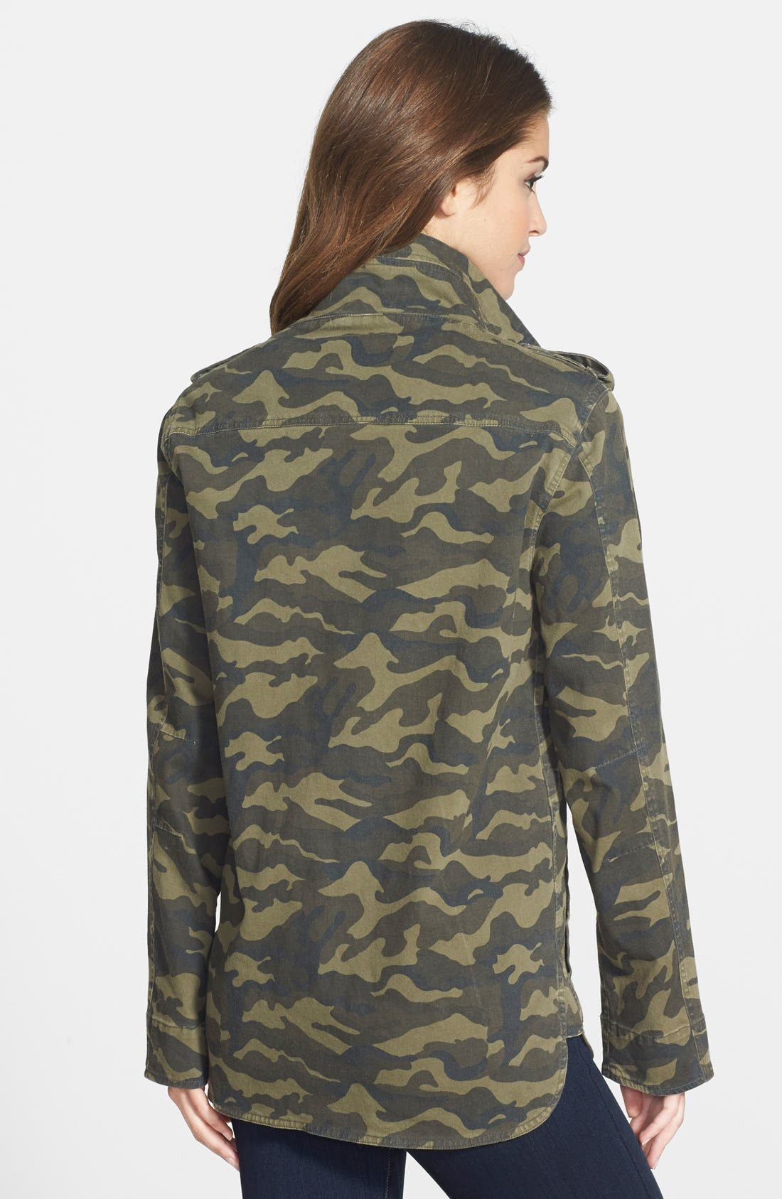 Alternate Image 2  - Press Lightweight Stretch Cotton Military Jacket (Regular & Petite)