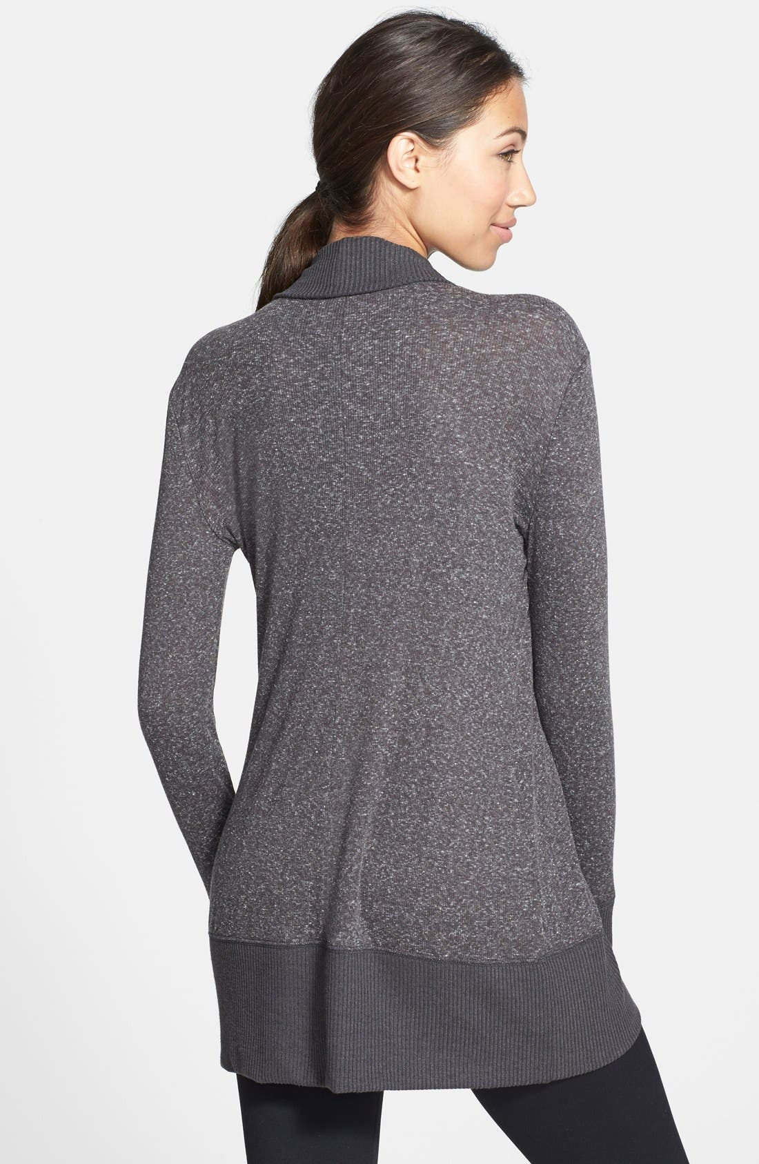Open Front Cardigan,                             Alternate thumbnail 2, color,                             Charcoal Grey