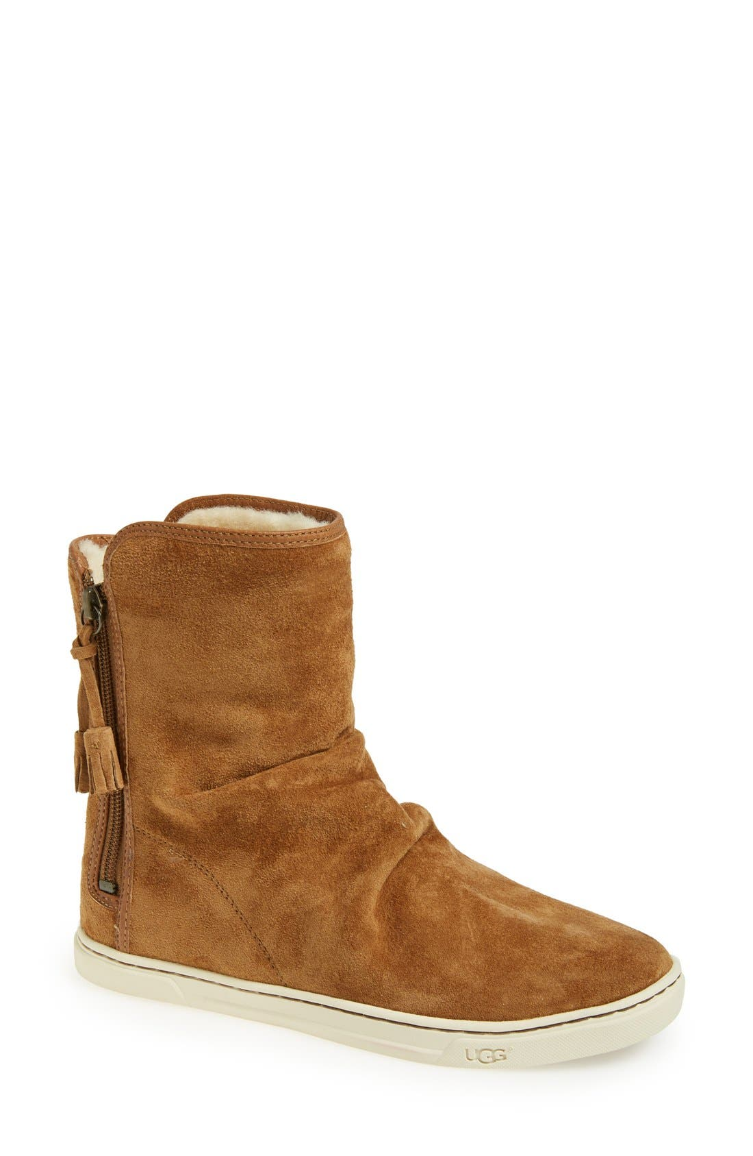 Australia 'Becky' Water Resistant Suede Boot,                         Main,                         color, Chestnut