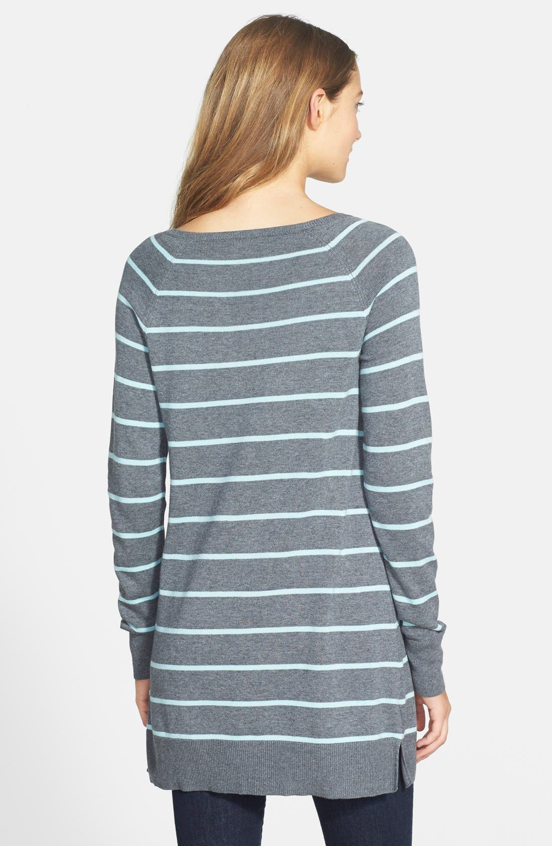 Alternate Image 2  - Caslon® Zip Detail Raglan Sleeve Tunic (Regular & Petite)
