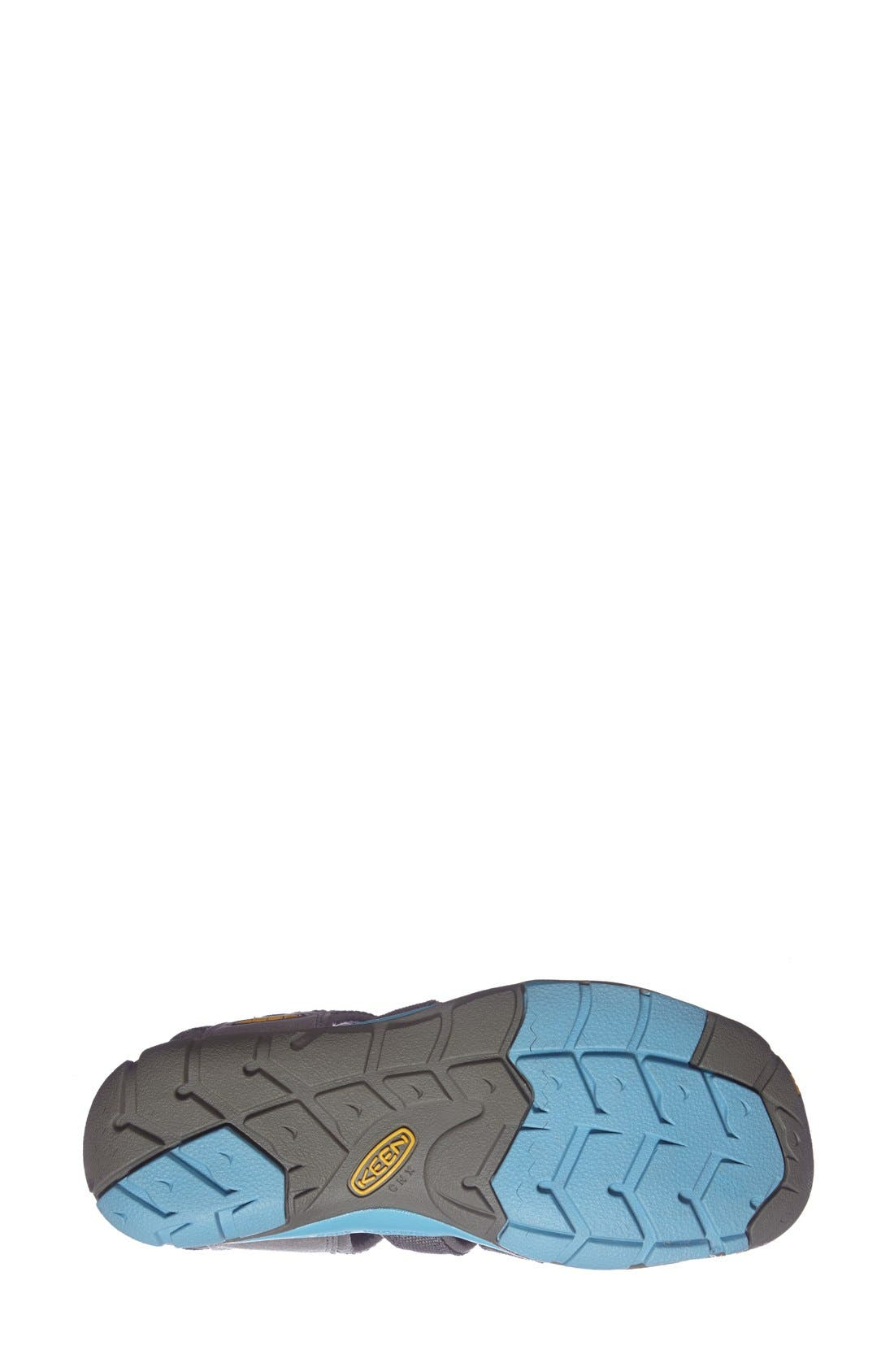 'Clearwater CNX' Sandal,                             Alternate thumbnail 4, color,                             Gargoyle/ Norse Blue