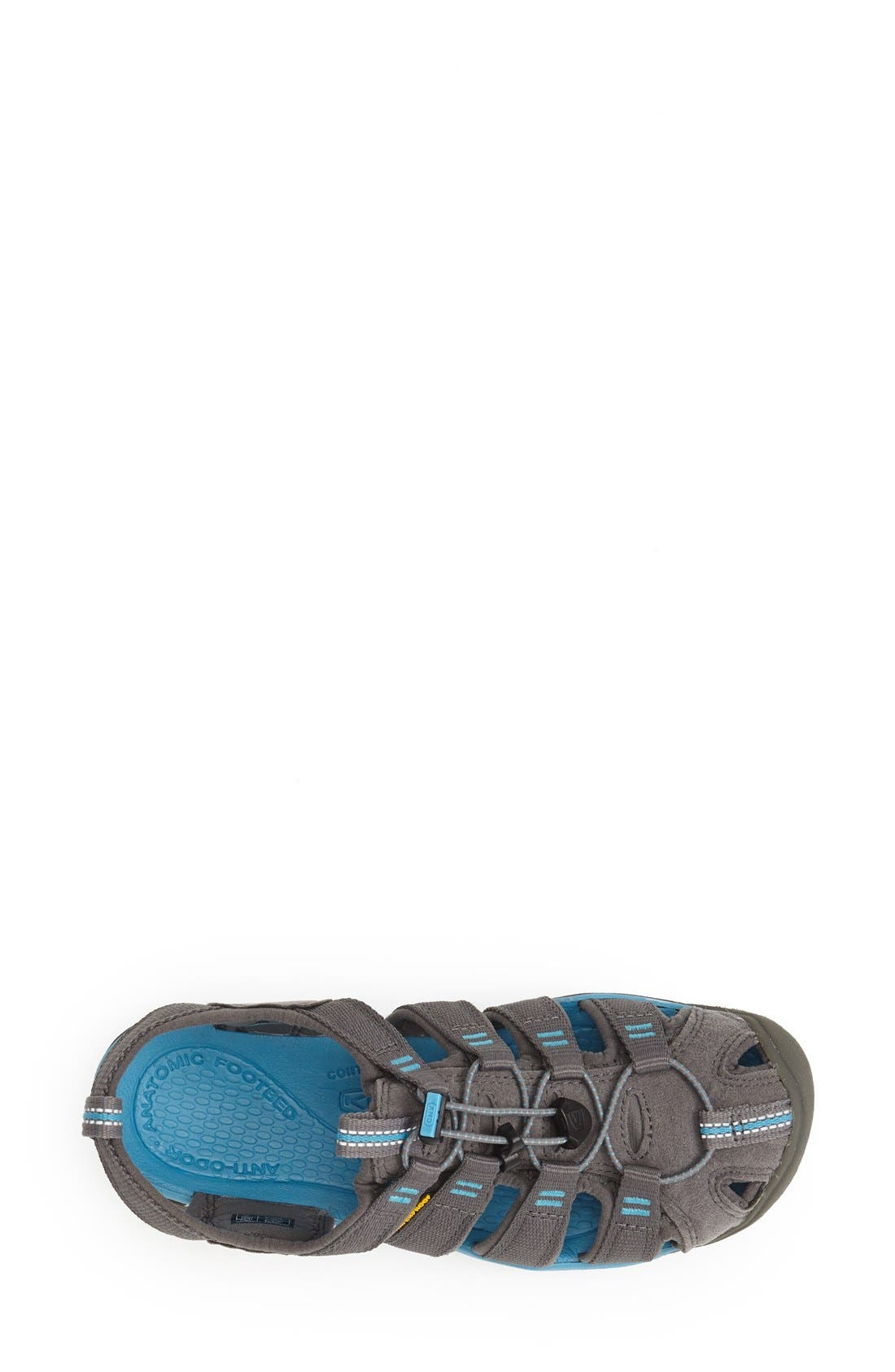 'Clearwater CNX' Sandal,                             Alternate thumbnail 3, color,                             Gargoyle/ Norse Blue