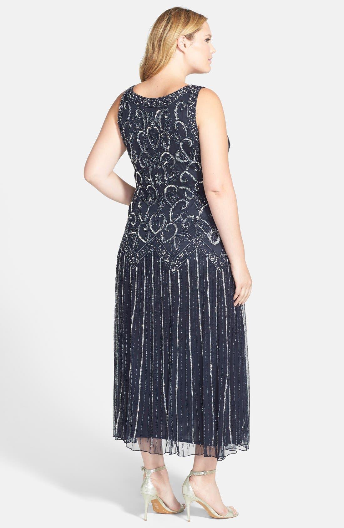 Alternate Image 2  - Pisarro Nights Embellished Mesh Dress (Plus Size)