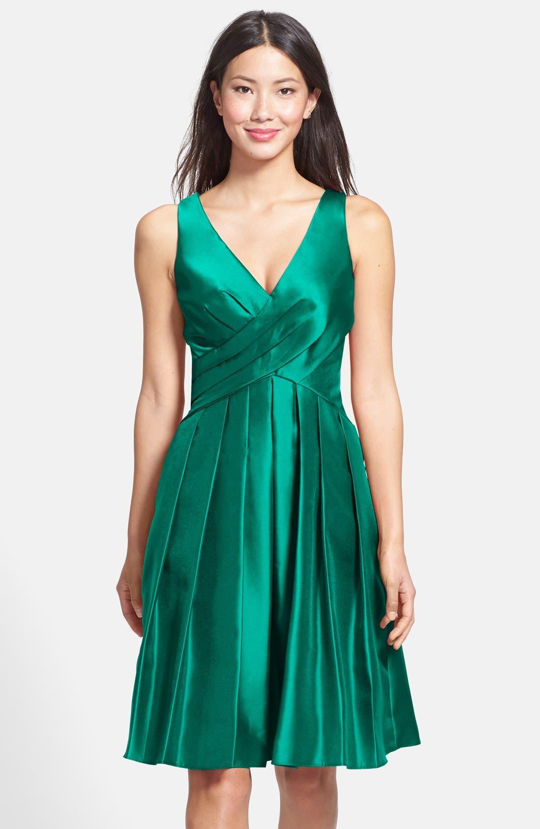 Alternate Image 1 Selected - Pamella, Pamella Roland Gazar Fit & Flare Dress