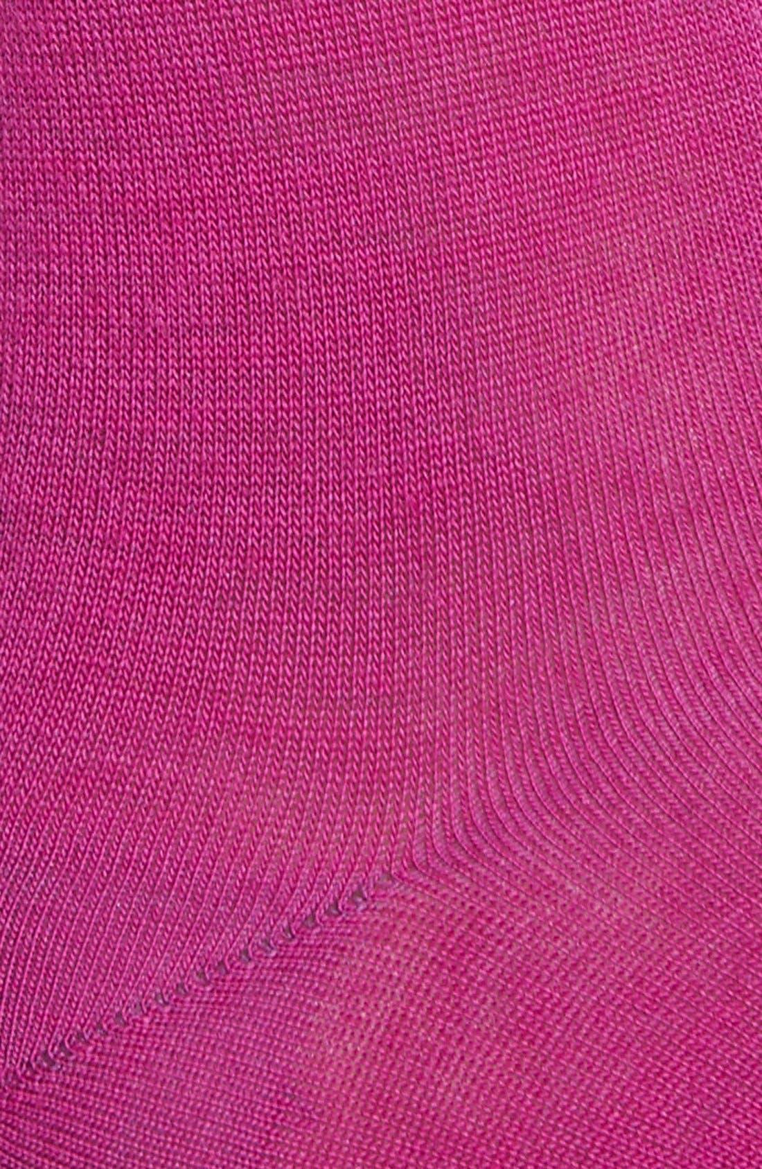 Alternate Image 2  - Nordstrom Flat Knit Merino Wool Crew Socks