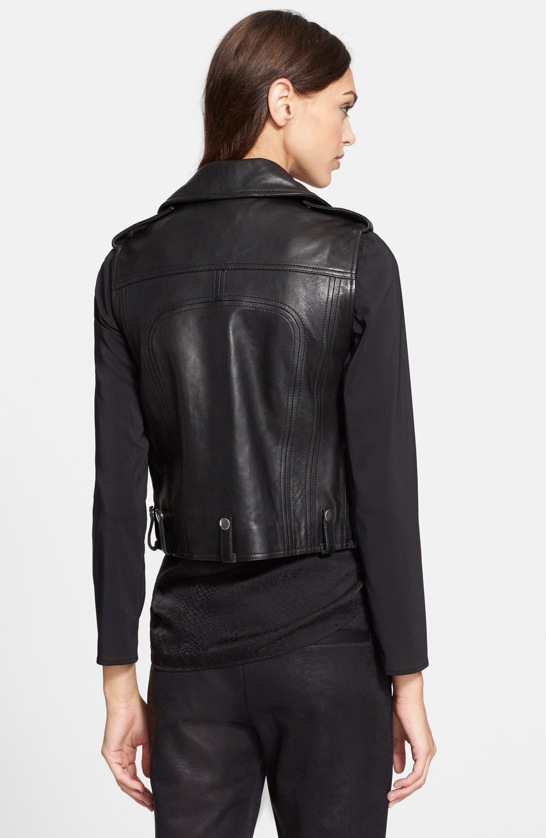 Alternate Image 2  - The Kooples Leather Moto Vest