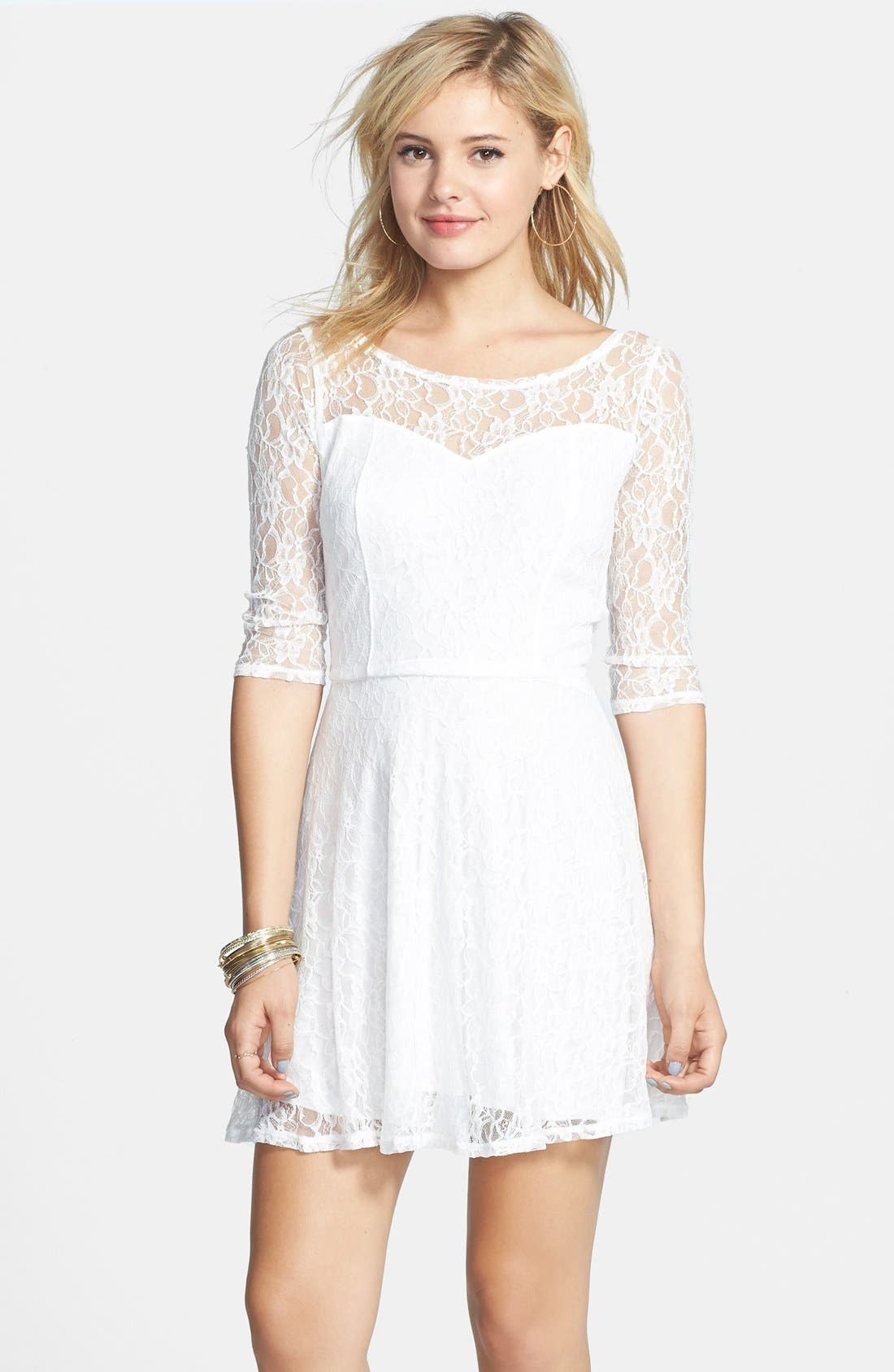 Lace cocktail dress juniors