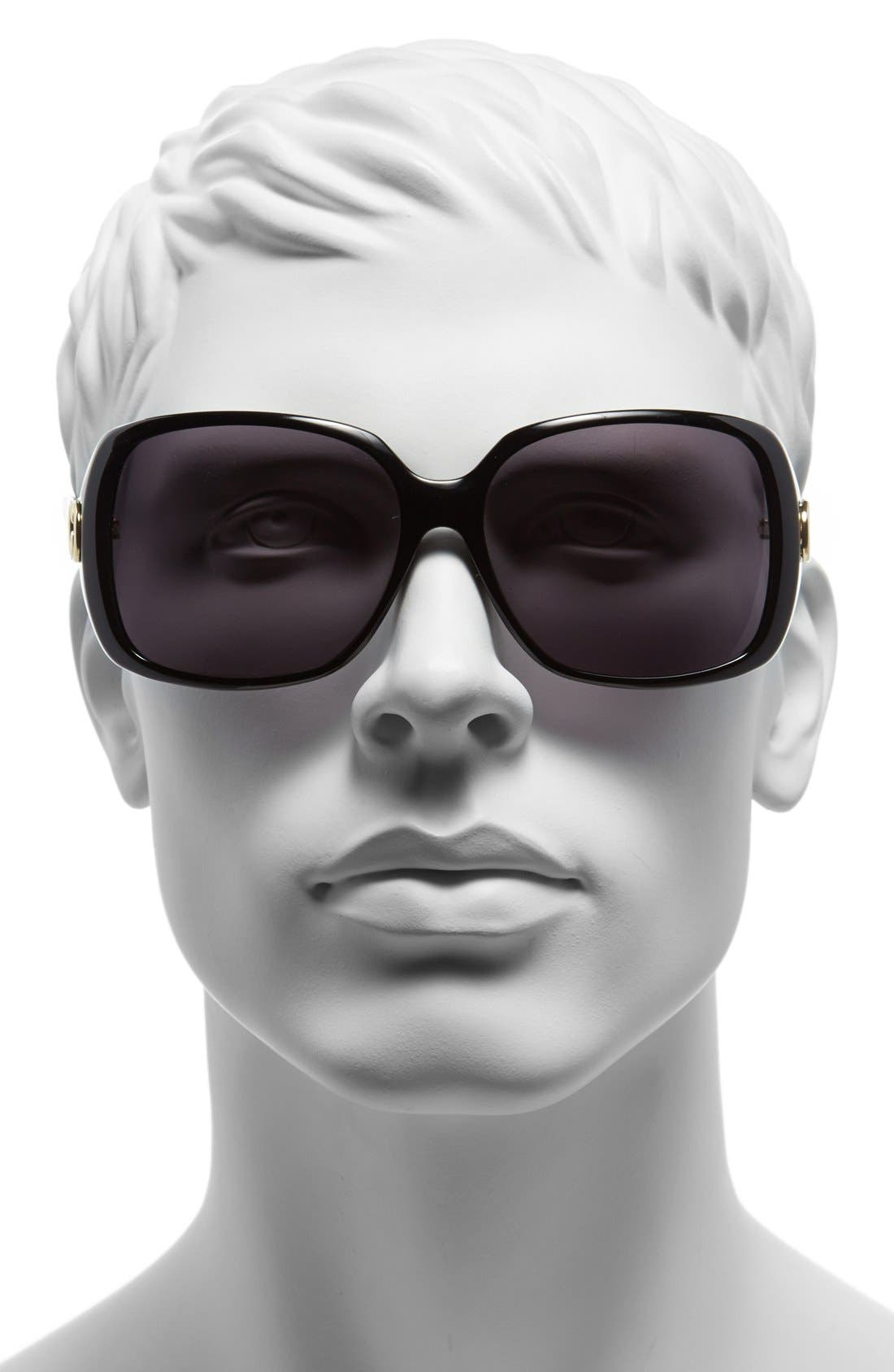 Alternate Image 2  - Gucci 56mm Polarized Retro Sunglasses