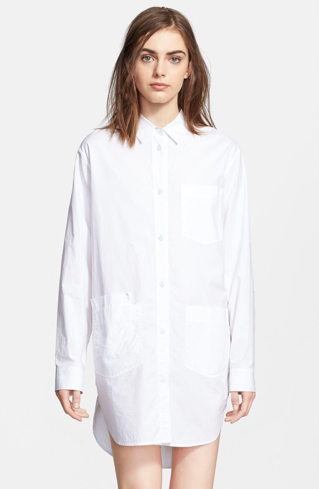 Alternate Image 3  - T by Alexander Wang Cotton Poplin Shirtdress