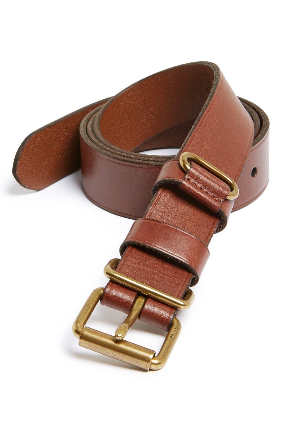 Alternate Image 1 Selected - Polo Ralph Lauren 'Suffolk' Leather Belt