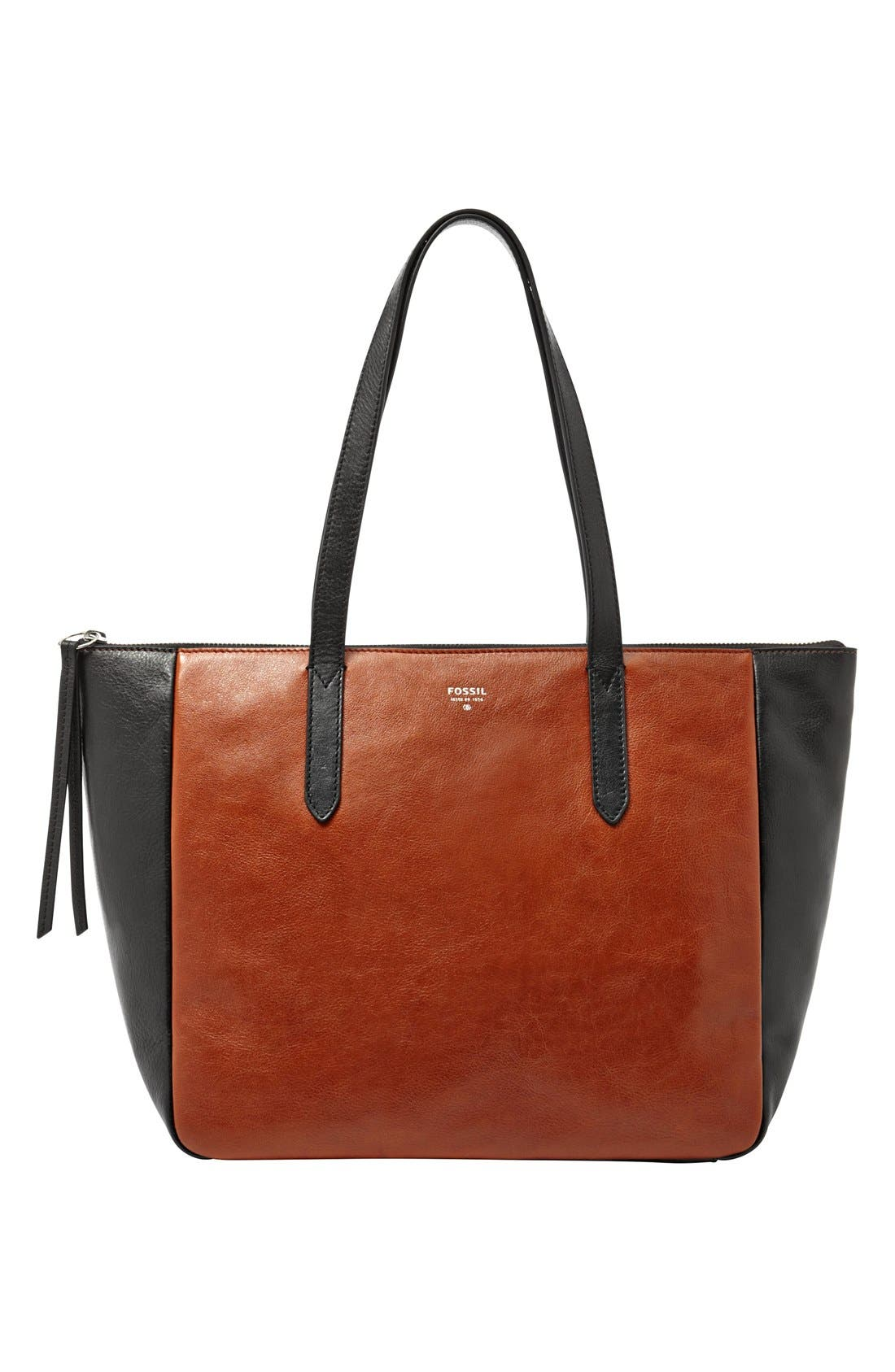 Alternate Image 1 Selected - Fossil 'Sydney' Colorblock Shopper