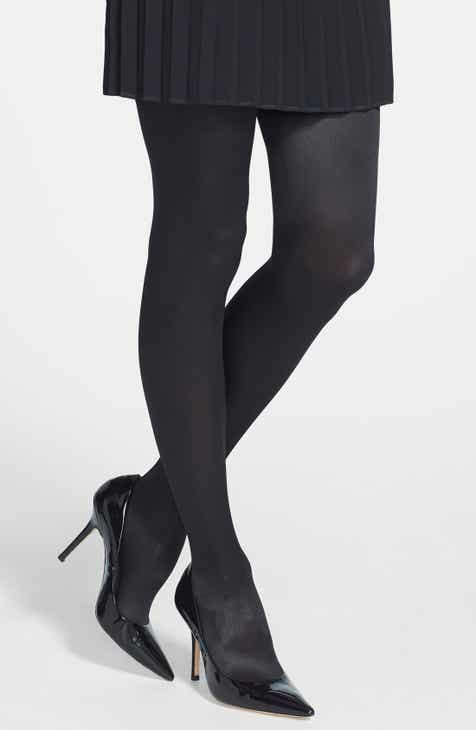 Wolford 'Satin de Luxe' Backseam Tights by WOLFORD