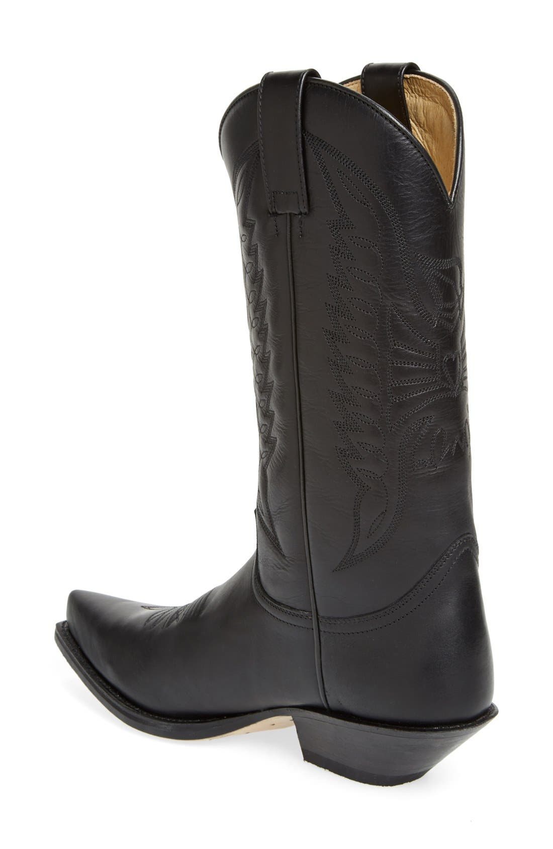 'Reno' Cowboy Boot,                             Alternate thumbnail 2, color,                             Black