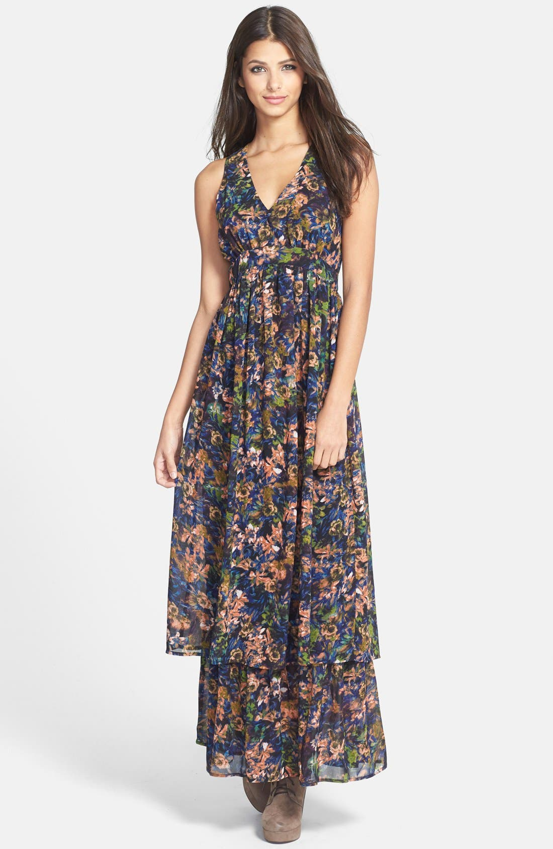 Alternate Image 1 Selected - Sleeveless Slit Maxi Dress