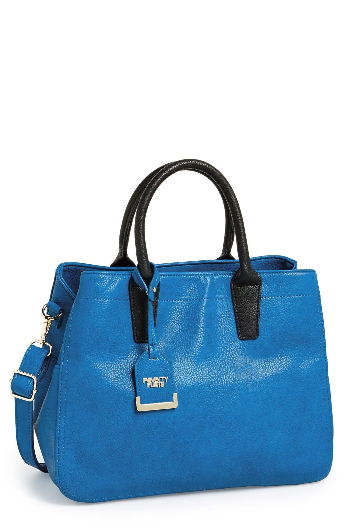 Alternate Image 1 Selected - POVERTY FLATS by rian Faux Leather Convertible Tote