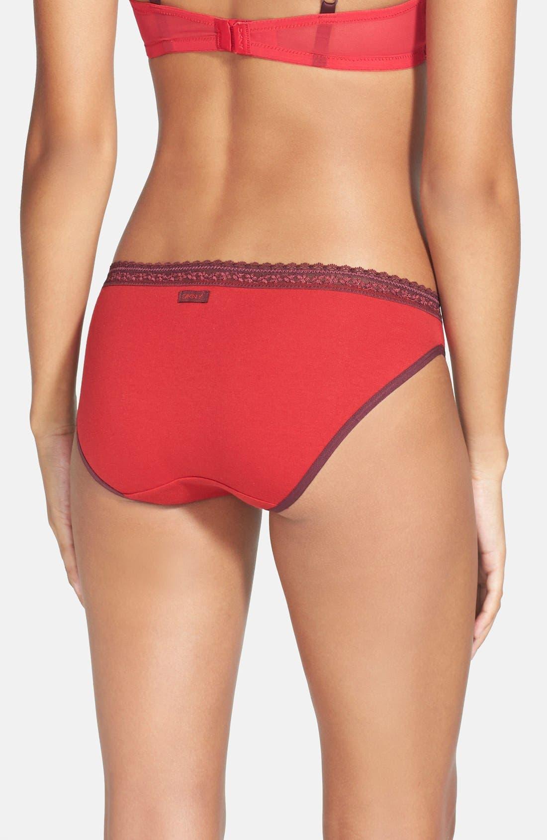 Alternate Image 2  - DKNY 'Delicate Essentials' Bikini (3 for $30)
