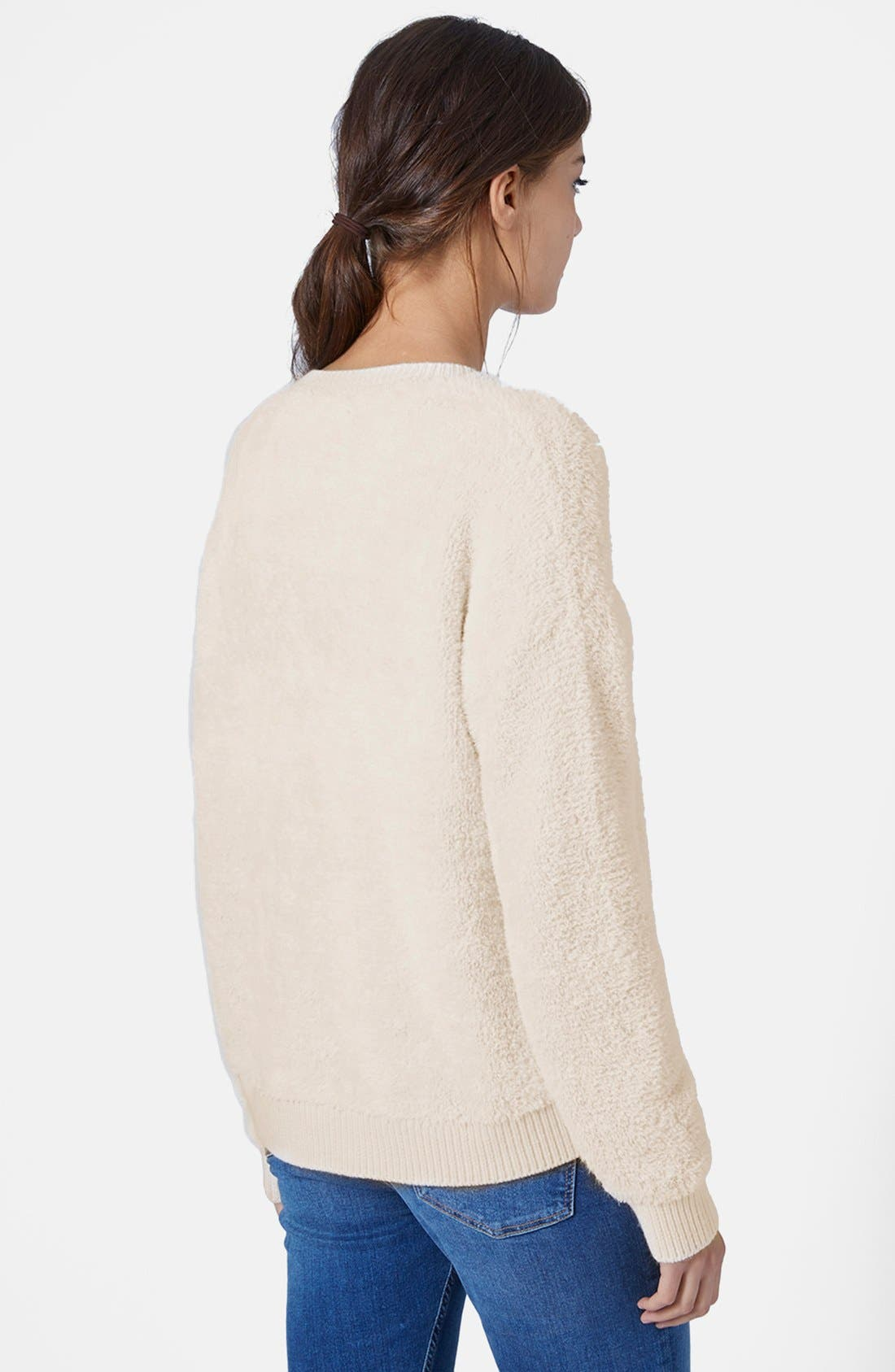 Alternate Image 2  - Topshop Fluffy Pullover Sweater