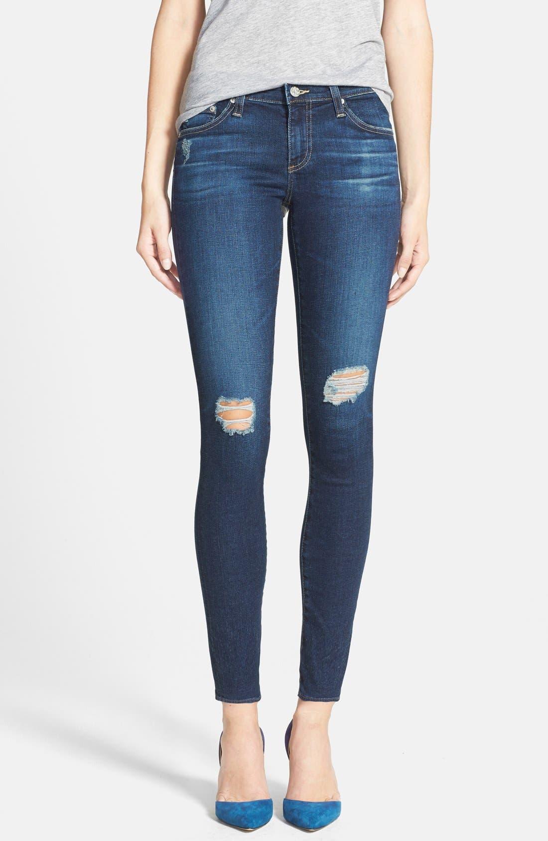 Alternate Image 1 Selected - AG 'The Legging' Ankle Jeans (4 Year Fog)
