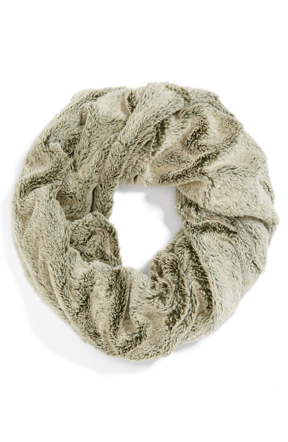 Faux Fur Infinity Scarf,                             Alternate thumbnail 2, color,                             Camel