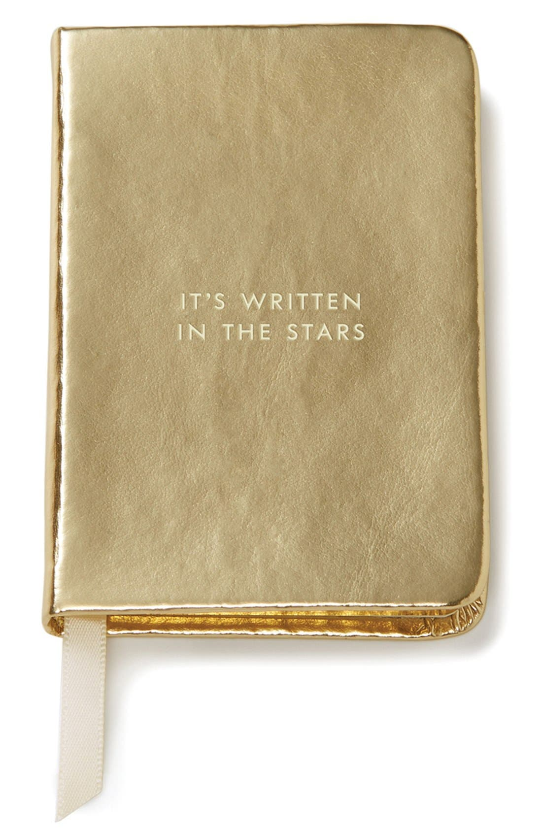 'it's written in the stars' mini notebook,                         Main,                         color, Gold