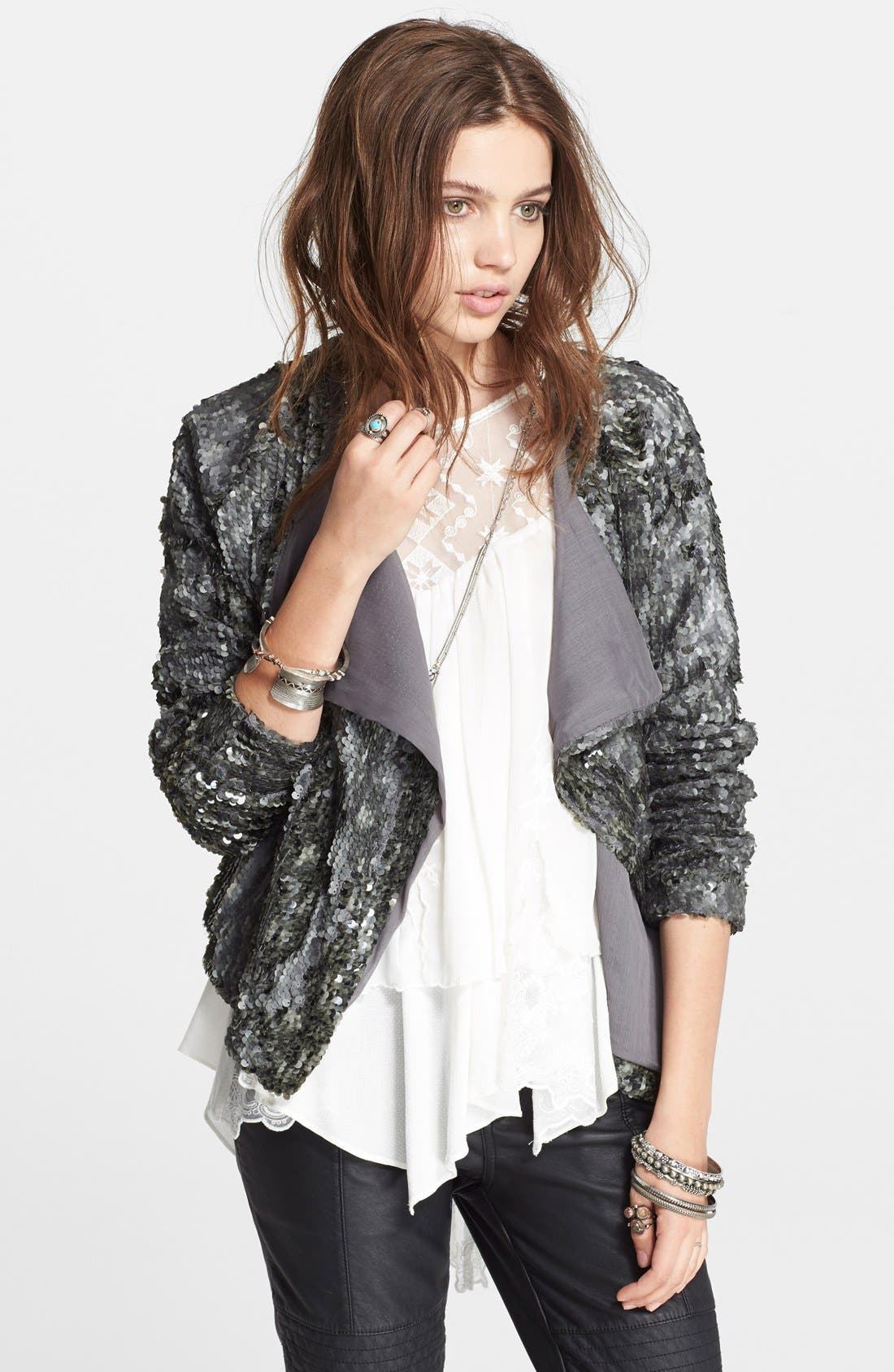 Main Image - Free People Sequin Party Jacket