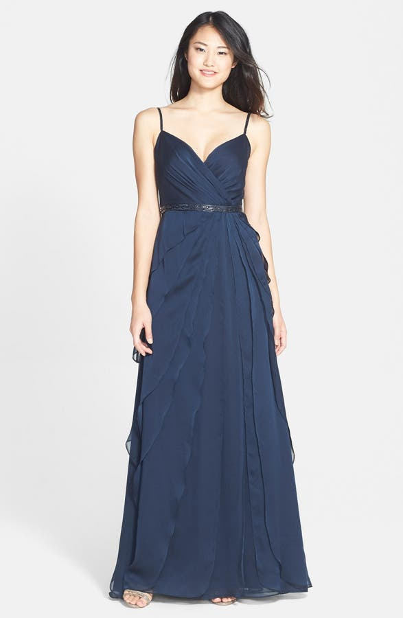 Adrianna Papell Tiered Chiffon Gown | Nordstrom