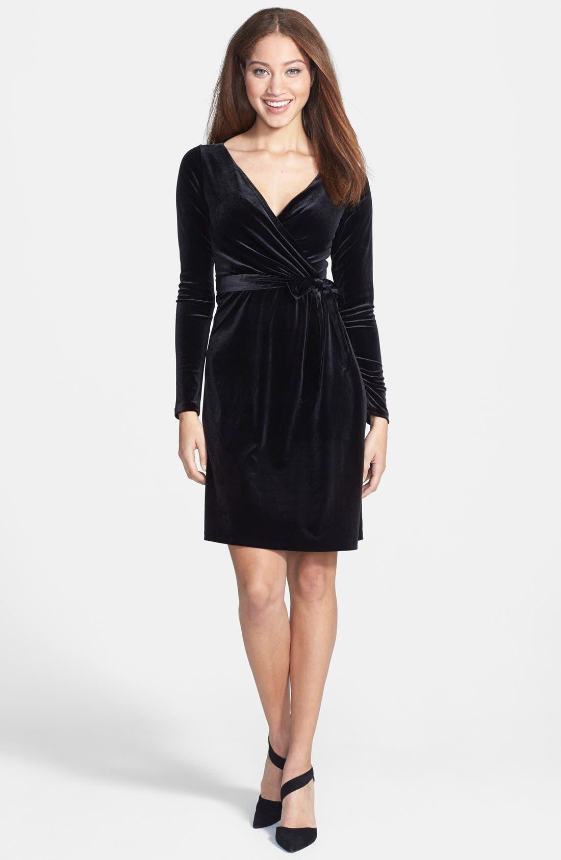 Alternate Image 1 Selected - Anne Klein Velvet Wrap Dress