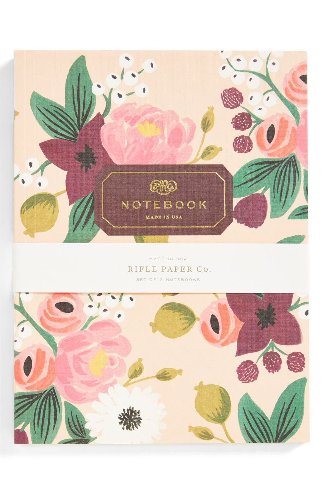Alternate Image 2  - Rifle Paper Co. 'Vintage Blossoms' Notebooks (Set of 2)