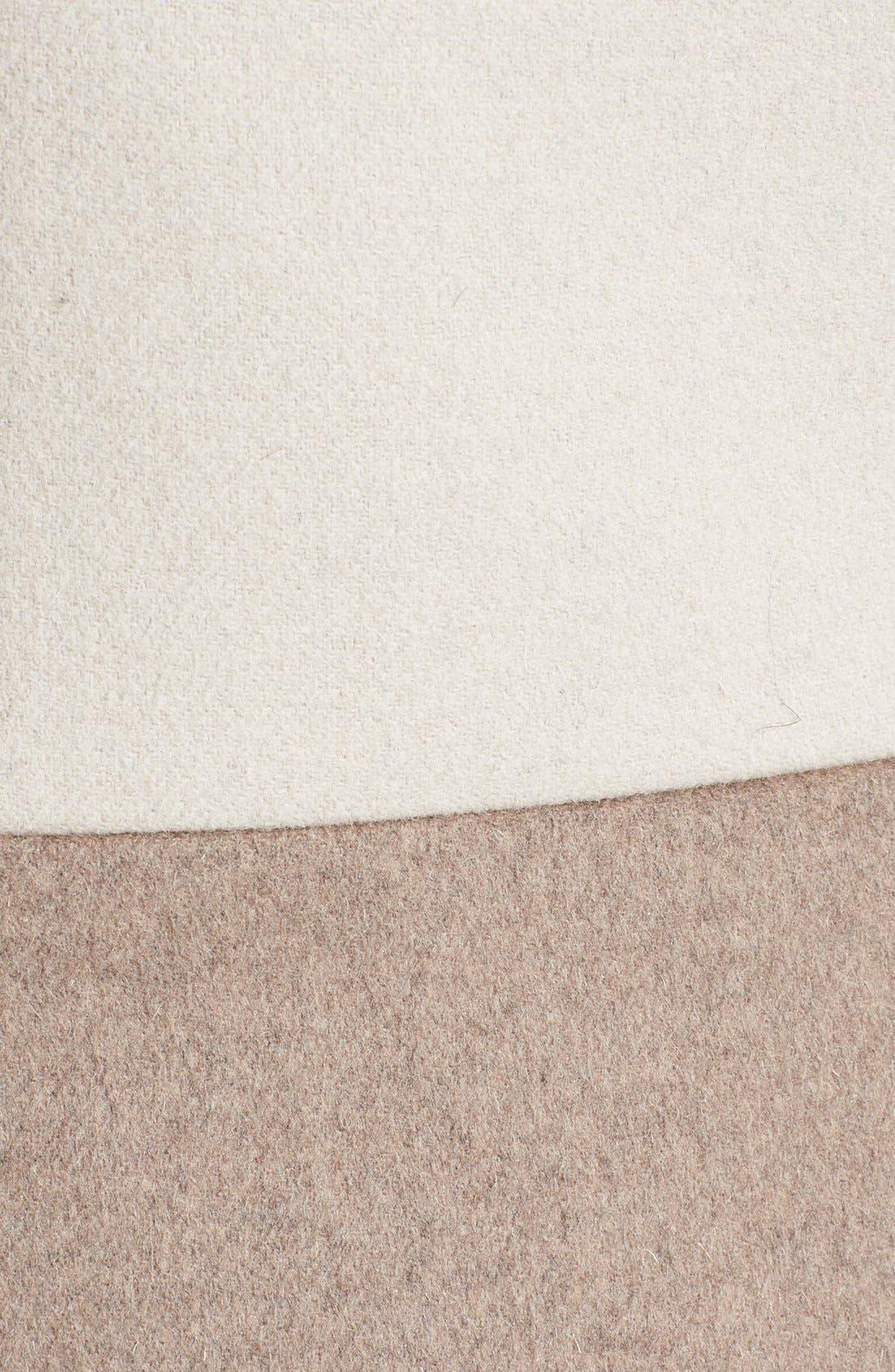 Alternate Image 3  - DL2 by Dawn Levy 'Lila' Colorblock Wool Blend Asymmetrical Coat