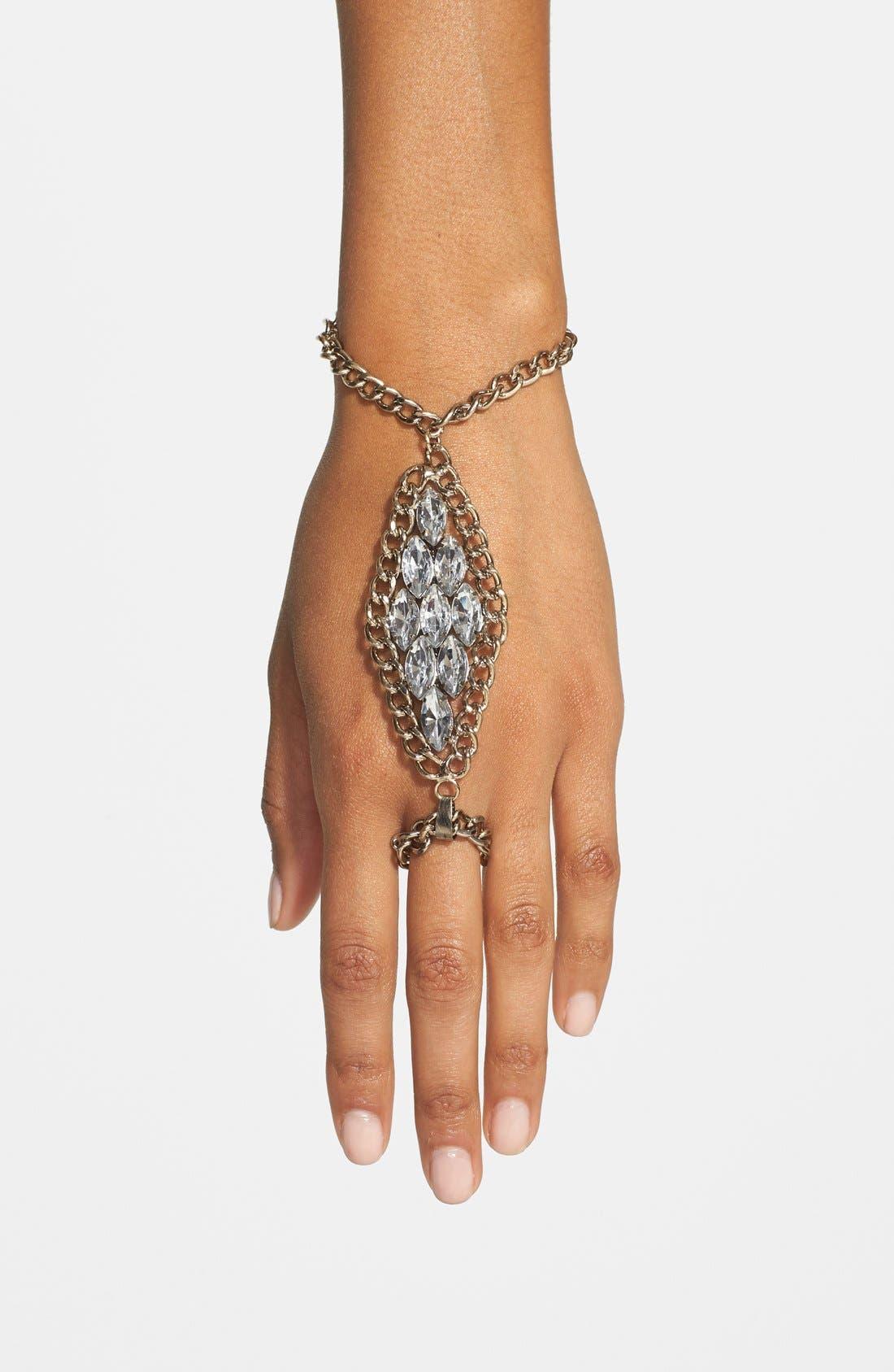 Alternate Image 1 Selected - Tildon Crystal Hand Chain