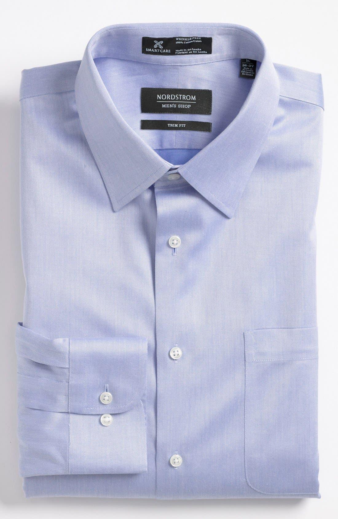 Main Image - Nordstrom Men's Shop Smartcare™ Trim Fit Twill Dress Shirt