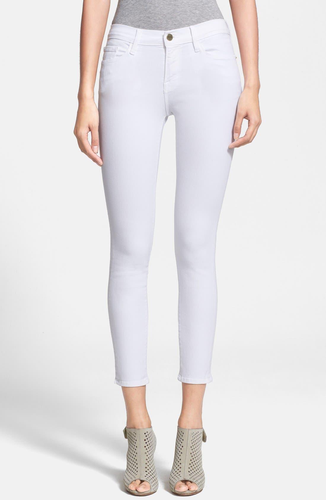 Alternate Image 1 Selected - Frame Denim 'Le Color Crop' Skinny Jeans