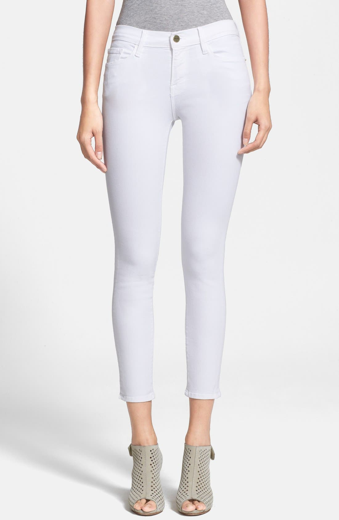 Main Image - Frame Denim 'Le Color Crop' Skinny Jeans