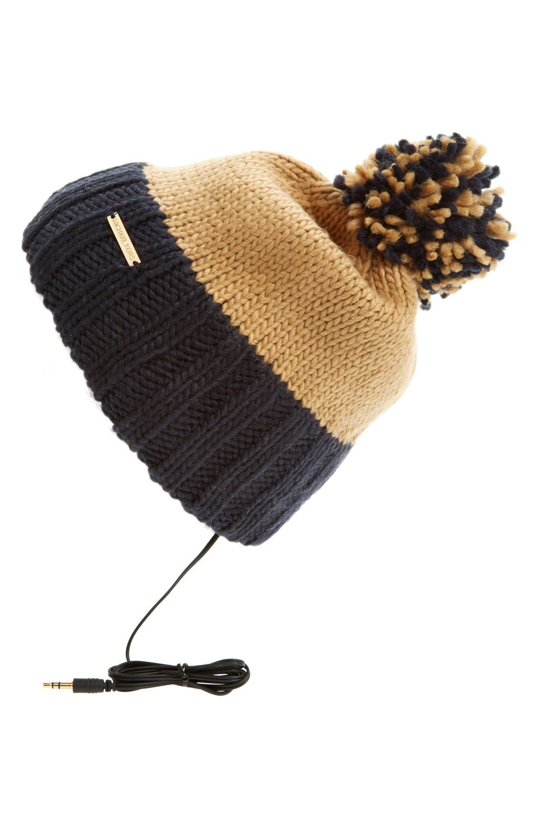 'Pompom' Skull Hat,                         Main,                         color, New Navy