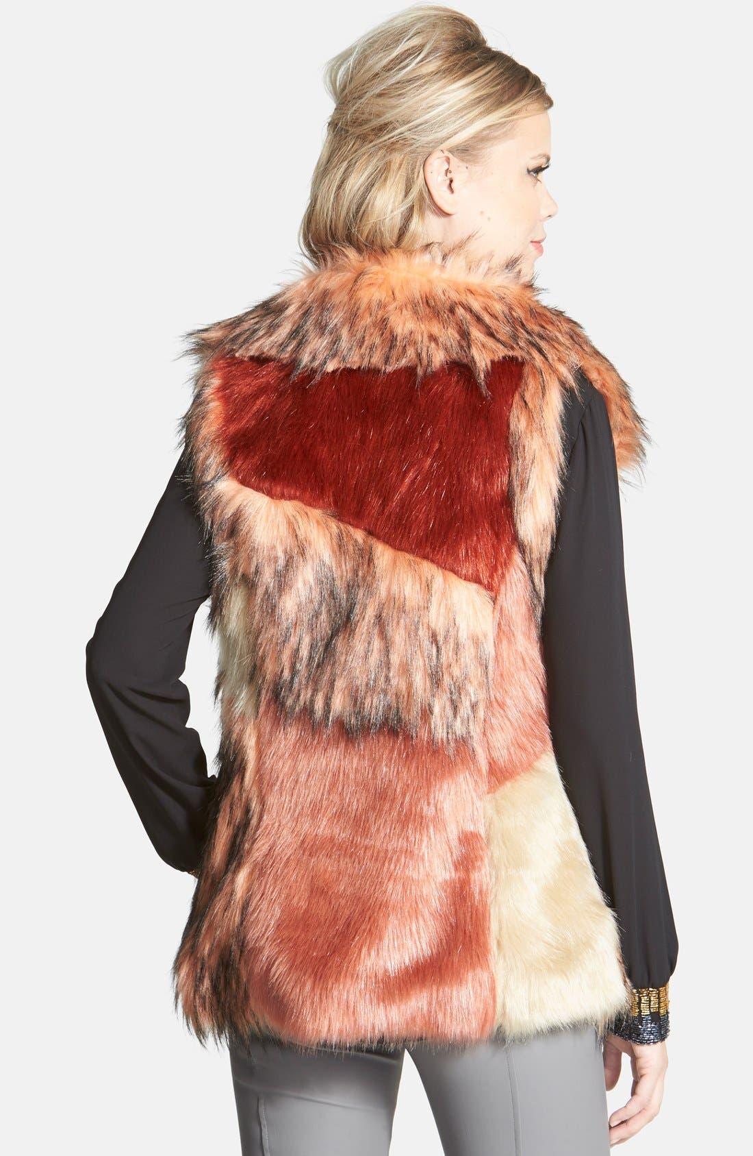 Alternate Image 2  - odyn Faux Fur Vest